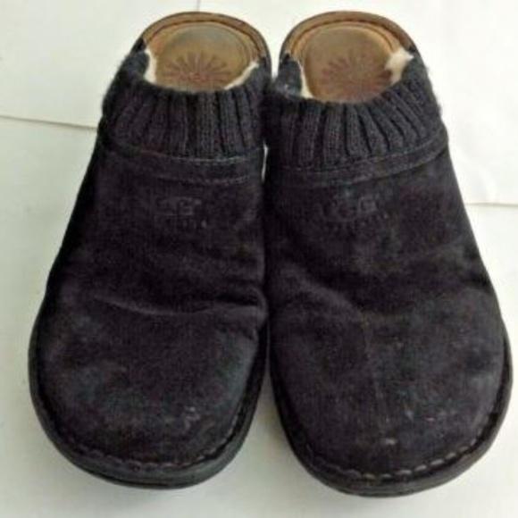 7ca9ab70a75 UGG Australia Gael Wedge Mules Black Size 7